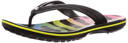crocs Crocband Printed Flips Black/Multi Schuhgröße EU 36-37 2019 Sandalen (Multi-logo-print Über)