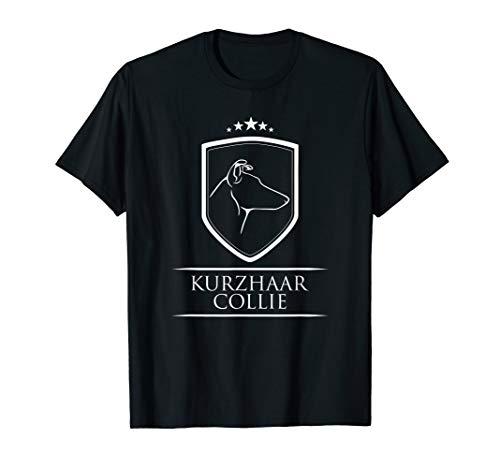 Kurzhaar Collie Profil Wappen Hund Geschenk Hunde T-Shirt -