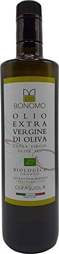Bonomo - Olio Extravergine di Oliva Biologico Monocultivar Cerasuola Estratto a freddo 100% Italiano Raccolta