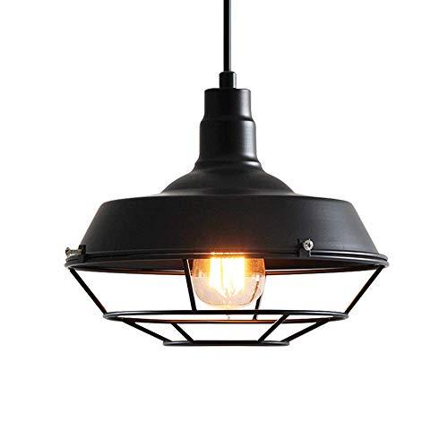 E27 Lámpara de techo colgante Lámpara de techo redonda de jaula de ...