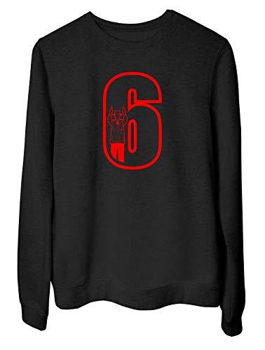 Rundhals-Sweatshirt fur Frau Schwarz FUN1092 Cricket Umpire 6 Mens CU