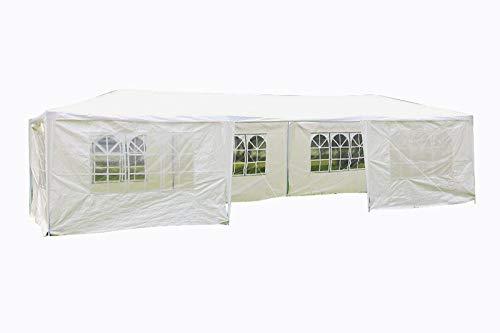 MCombo Festzelt Partyzelt 3x3-9m Gartenzelt Pavillon Bierzelt (3×9 mit 7 Seitenteilen)