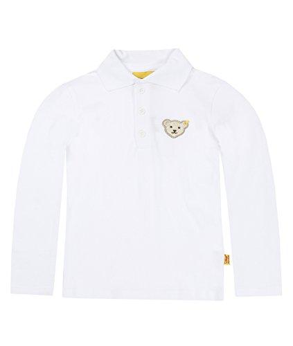 Steiff Unisex - Baby Poloshirt 0006831 1/1 Arm, Bright White, 98 (Herstellergröße: 98)