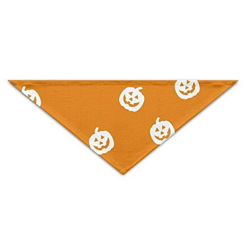 Haustier Bandanas Orange Halloween Kürbisse Druck Hund Bandanas Schals Dreieck Lätzchen Schals Cool Basic Dogs Halstuch Cat Collars (Kürbis Pet Bandana)