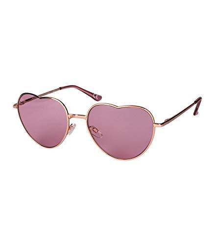 le, Herz Gläser, UV-Filter, Sommer, Sonne, Stahlgestell, silber, pink, Karneval, Hippie, Kostüm (324-539) ()