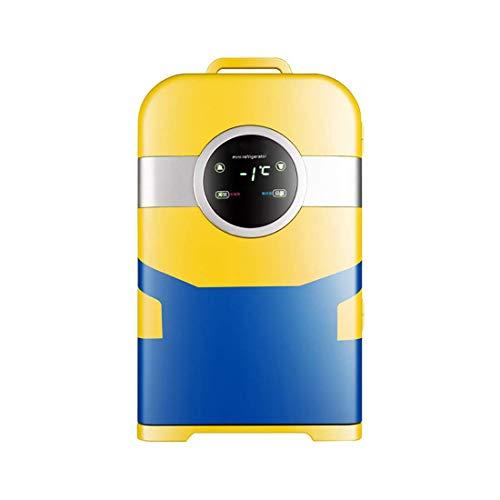 HUIQC 22 Liter Deluxe Tragbarer Mini-Kühlschrank Dual-Core-Kühlung Auto-Kühlschrank Auto und Zuhause Einzelne Tür Kühl- und Warm-Kühlschrank für Studentenunterkünfte, Picknick, Reisen -