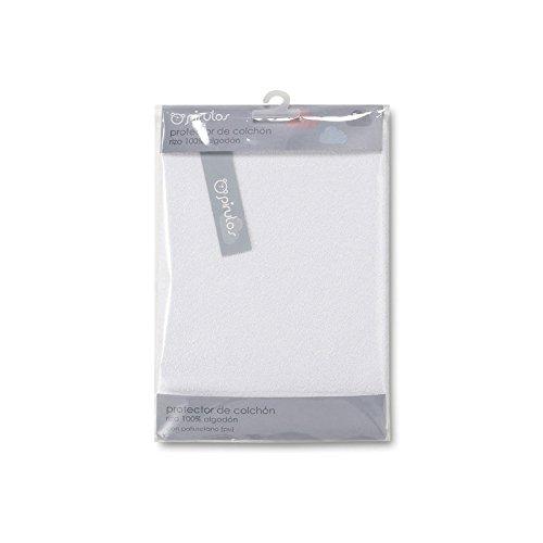 Pirulos 42300001 - Protector colchón, algodón, 60 x 120 cm, color blanco