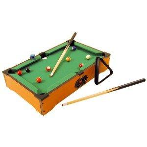 Billard-Tisch beleuchtet + 2Queues + 16Kugeln 51x 31x 9,5cm Holz Spiel