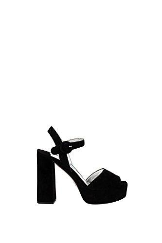 Sandali Prada Donna Camoscio Nero 1XP814NERO Nero 40EU