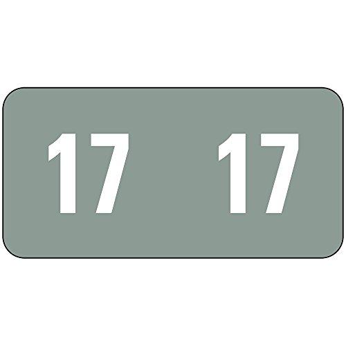 """Smead año codificados de ETS autoadhesivo etiquetas, 1/2x 1pulgadas, 2016, 250por caja (67916), color gris 1/2""""H x 1""""W"""