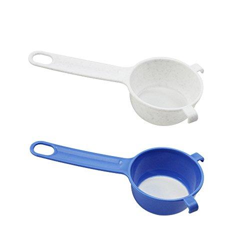 com-four® 2x Teesieb/Puderzuckersieb, feinmaschiges Sieb aus Kunststoff für z.B. Tee und Puderzucker (002 Stück - feinmaschiges Sieb)