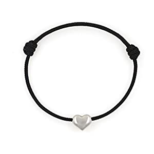 KOMIMAR dezentes Herzchen Armband HEART OF STEEL - Edelstahl - viele Tau Farben - dezent - verliebt - Liebe - Geschenkidee - Herz - Ich Liebe Dich - Kinder Armband
