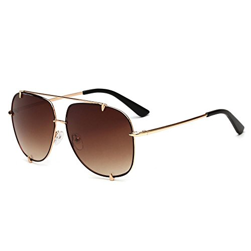 BiuTeFang Mens Sunglasses Women Large Frame Men and Women with The Same Style of solar Glasses Trend of Fashion Flat Sunglasses Decorative Sunglasses Sunglasses