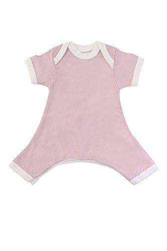 Hip-Pose Baby-Strampler/Strampelanzug mit kurzen Ärmeln für Spreizhose und Gipshosen für Neugeborene 0-3 Monate, pink