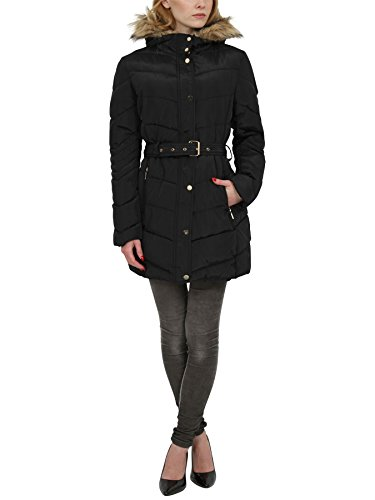 womens-quilted-padded-puffa-black-parka-long-jacket-designer-waist-zipped-winter-with-pockets-belt-f