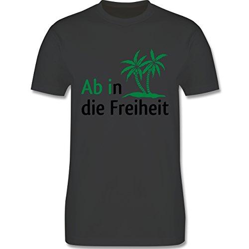 Abi & Abschluss - Ab in die Freiheit - Herren Premium T-Shirt Dunkelgrau