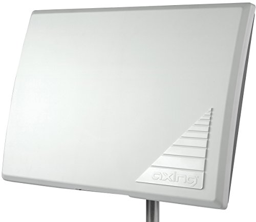 Axing TAA 3-10 aktive Außen-/Zimmer Antenne für DVB-T2 HD DAB+ UKW mit Verstärker weiß