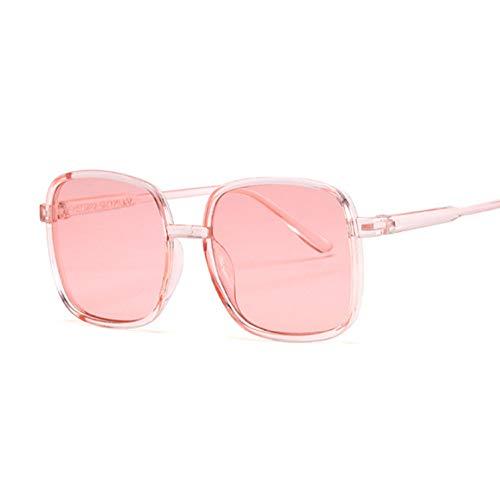Kjwsbb Verspiegelte Sonnenbrille mit Flacher Oberseite Schwarze Sonnenbrille Weibliche quadratische Oculos