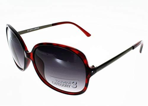 Loubsol Sonnenbrille Dakota, Rot/Stahl, für Damen, Größe 3