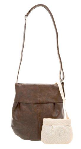 zwei Mademoiselle M10 Shopper Umhängetasche 31 cm Brown (Braun)