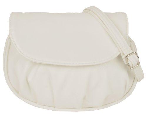 NEW BAGS Schultertasche Abendtasche Umhängetasche Überschlagtasche S NB3041 Kunstleder 19cmx15cmx6cm (BxHxT) (Weiß) (Tasche Weiß-handtasche)