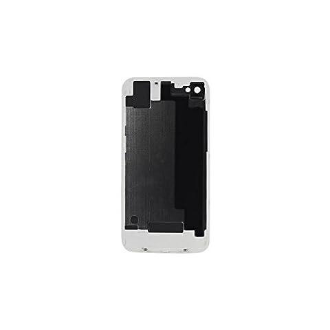 SPARFIX® - Vitre Arrière Blanc Sur Châssis Cache Batterie Pour iPhone 4S