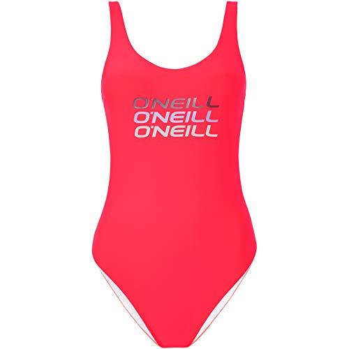 O'Neill Damen PW Logo Tripple Badeanzug, Pink (Divan Pink), 38