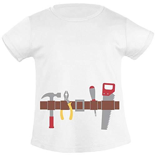 Handwerker Gürtel Kostüm Geschenk Jungs Mädchen T-Shirt 96/104 (3-4J) (Schule Soziale Kostüm)
