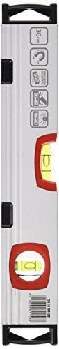 BELLOTA 50101m-30Wasserwaage 30cm Stahlrohr mit Flakon Empfindlichkeit von 0,5mm/m und starke Magnete