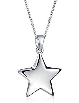 Bling Jewelry 925 Silber Stern Anhänger Halskette 16in