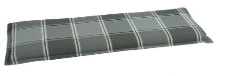 GO-DE 24515-11 Bankauflage 2 Sitzer, circa 115 x 48 x 6 cm, anthrazit / grau Karo