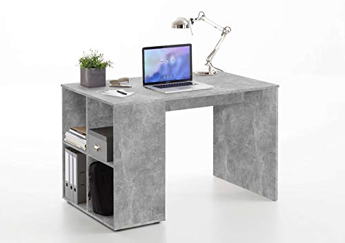 Avanti trendstore - domus - scrivania in legno laminato con 4 vani aperti, ideale per il tuo ufficio! disponibile in 2 colorazioni diverse. dimensioni lap 117x75x73 cm (grigio)