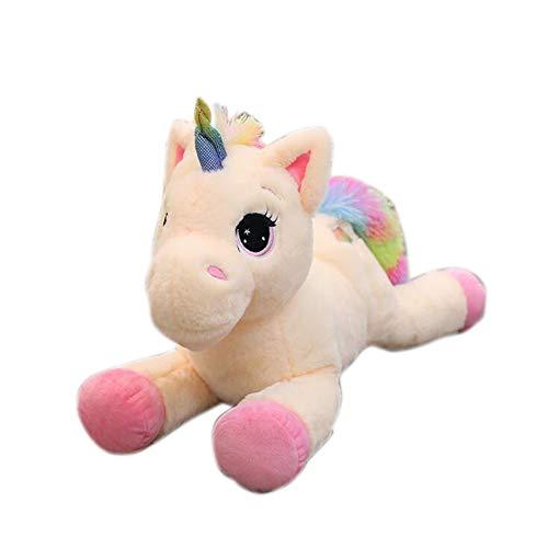 """Georgie Porgy Mimoso Unicornio Juguete Suave Peluche Regalo Esponjoso para niñas de 3 años o más (Crema Rosa 15"""")"""