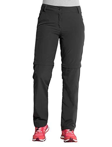 Jack Wolfskin Damen Marrakech Zip Off Pants UV-Schutz Outdoor Schnelltrocknend Freizeit, Reisehose Hose, Phantom, 92 (Zip-off-leg-pants)