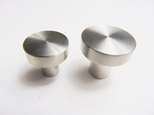 GedoTec® Design Möbelknopf Edelstahlknopf Türknopf TELLAS rund | Ø 25 mm – Höhe 24 mm | Schrankknopf Edelstahl matt gebürstet | Markenqualität für Ihren Wohnbereich - 2