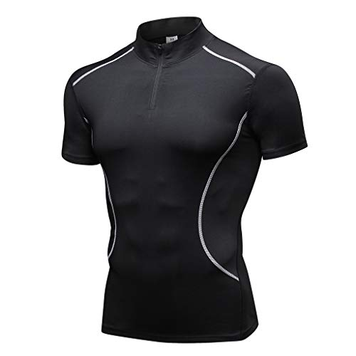 Button, Denim-jumper (Oliviavane Herren Neue Mode Schnelltrocknend Shitrs Sport Fitness Kurzarm T-Shirts Atmungsaktiv Bequem Elastische Trainingsshirt Slim Fit Sweatshirts)