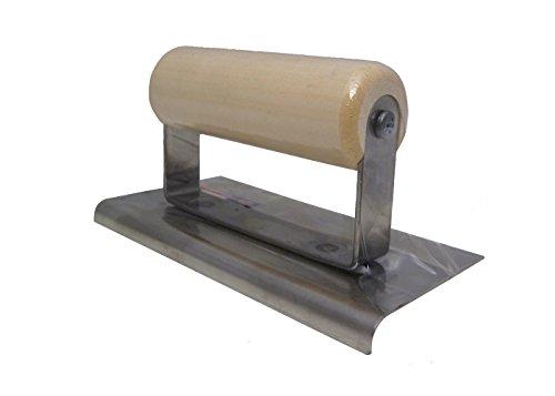 Marshalltown CE504S 6 x 3 SS Kantenkelle, 1/4R, 3/8L-Holzgriff Silber