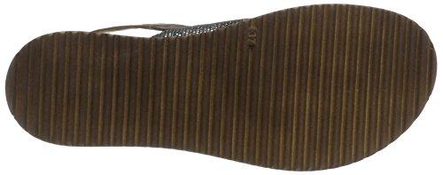 Inuovo - 7157, Scarpe con plateau Donna Grau (Grey Black-Dark Brown)