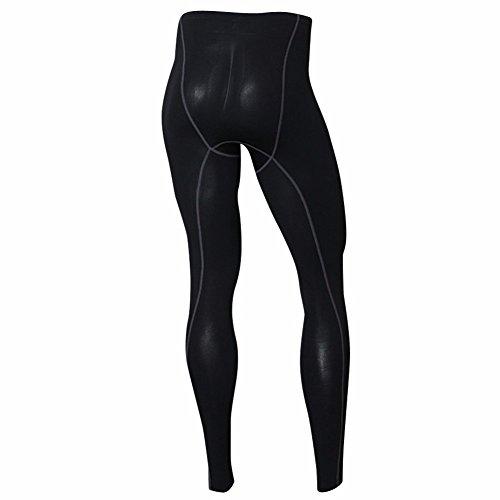 Herren Thermo Unterwäsche Strumpfhosen Leggings Base Layer Kompression Pants schwarz Nationale Gr. Large, Schwarz