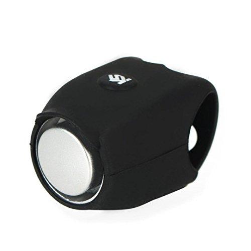 Hunpta@ Fahrradklingel Laut, 120 db Elektrische Lauter, Design Fahrradglocke Radfahren Fahrrad für Alle Fahrrad (Schwarz)