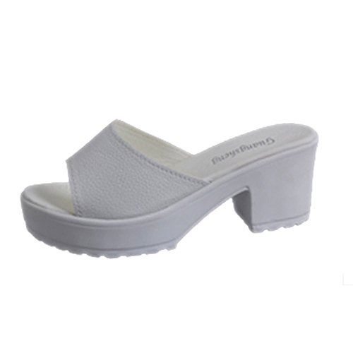NDGDA Damen-Sandalen mit weichem Keilabsatz