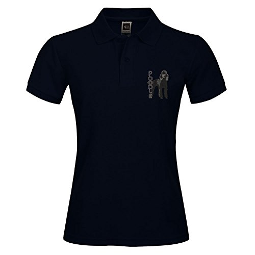 Stylisches Polo Shirt Outdoor Sport Kurz Shirt mit Halsband Pudel bedruckt Größe L schwarz (Halsband-athletic-shirt)