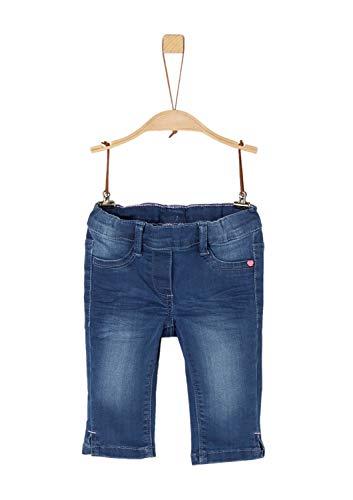 s.Oliver Mädchen 58.903.72.2018 Hose, Blau (Blue Denim 56z5), 116 (Herstellergröße: 116/REG) (Capri-jeans Mädchen)