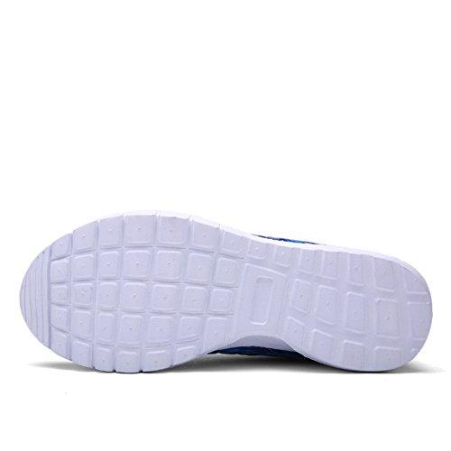 Damen Bunt Turnschuh Sportschuhe Laufschuhe Turnschuhe Straßenlaufschuhe Sneaker Trainer die Fitness Blau