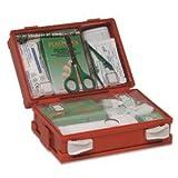 Valigetta pronto soccorso completa per ferite di piccola entità, in ABS con chiusura con due clip rotanti, colore arancio