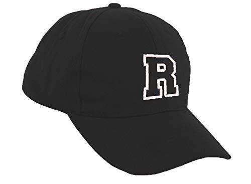 fe1b5f07769d3 Romens Ltd Niña Niño Gorra De Beisbol Protección Solar Kids Niñas Negro  Sombrero Letra del Alfabeto (R)