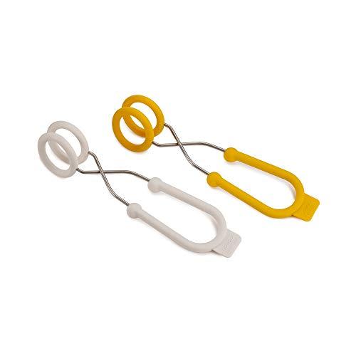 Joseph Joseph 20121 Tongs Set di 2 pinze per bollitura Uova, White/Yellow