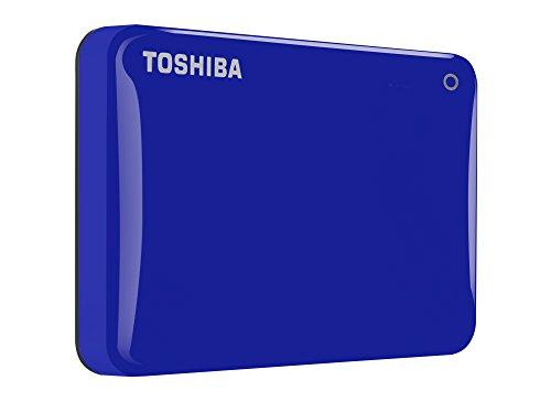 Toshiba Canvio Connect II 500 GB Mobile Festplatte (6,4 cm (2,5 Zoll) USB 3.0) blau