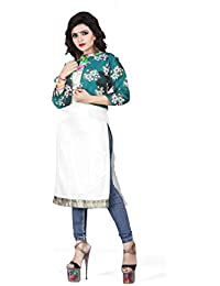 RAHEE COLLECTION Women's Silk Stitched Jacket (Turquoise & Gold) Size: X-Large