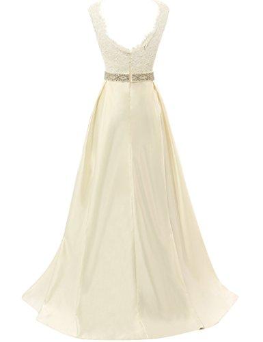 JAEDEN Robes de mari¨¦e vintage pour la mari¨¦e Simple manches Robe de mari¨¦e Cap Champagne